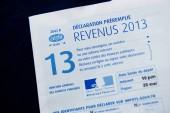 Prohlášení o zisku 2013 daňový papír