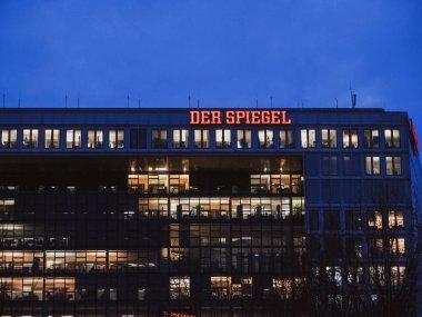 Headquarter of Der Spiegel The Mirror newspaper at dusk