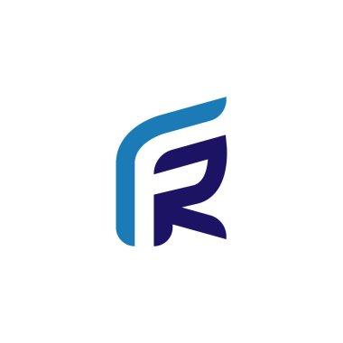 FR Initial Letter Logo Vector element. Initial logo template