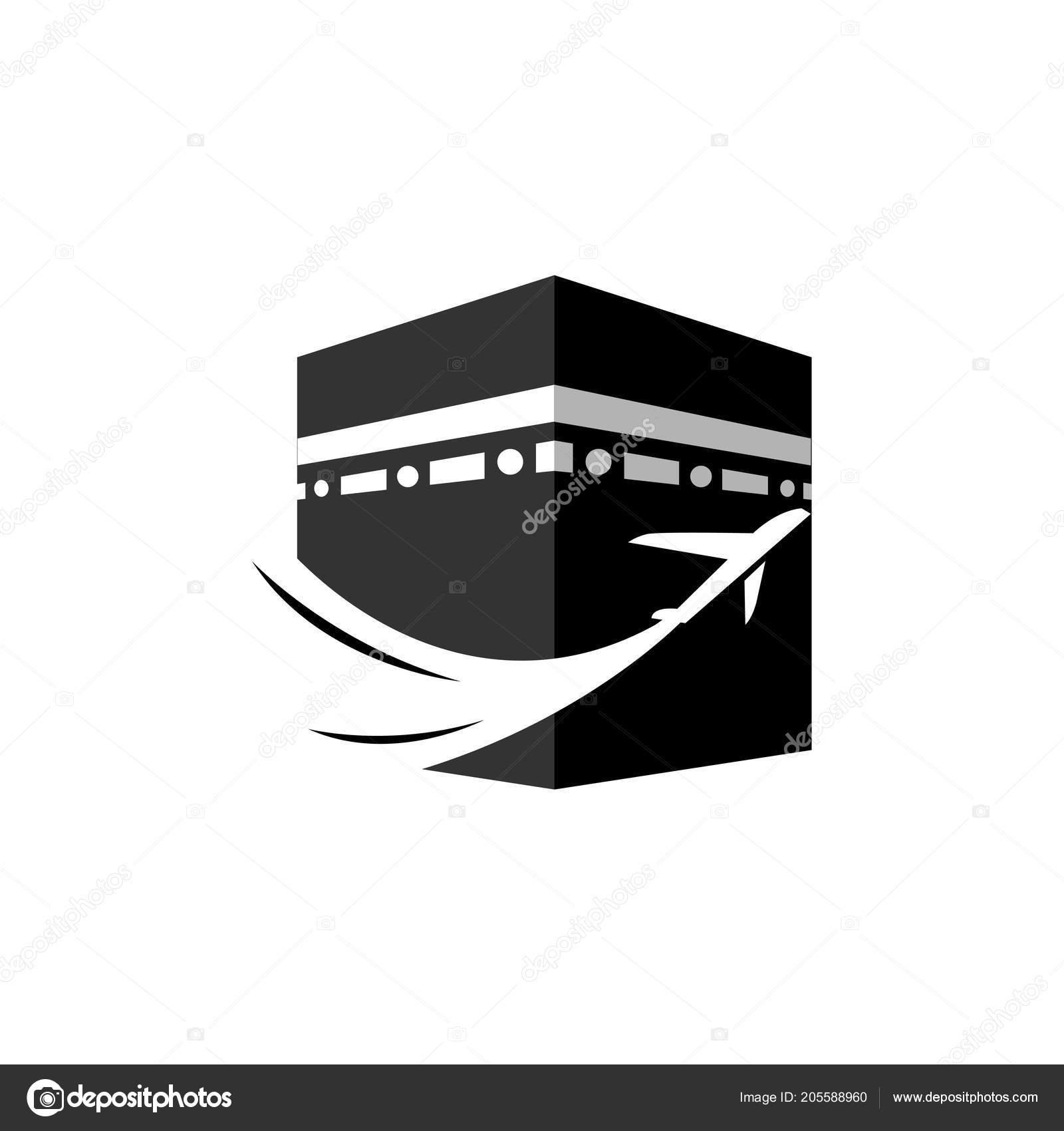 Hajj logo template | Kaaba Hajj Tour Travel Vector Logo