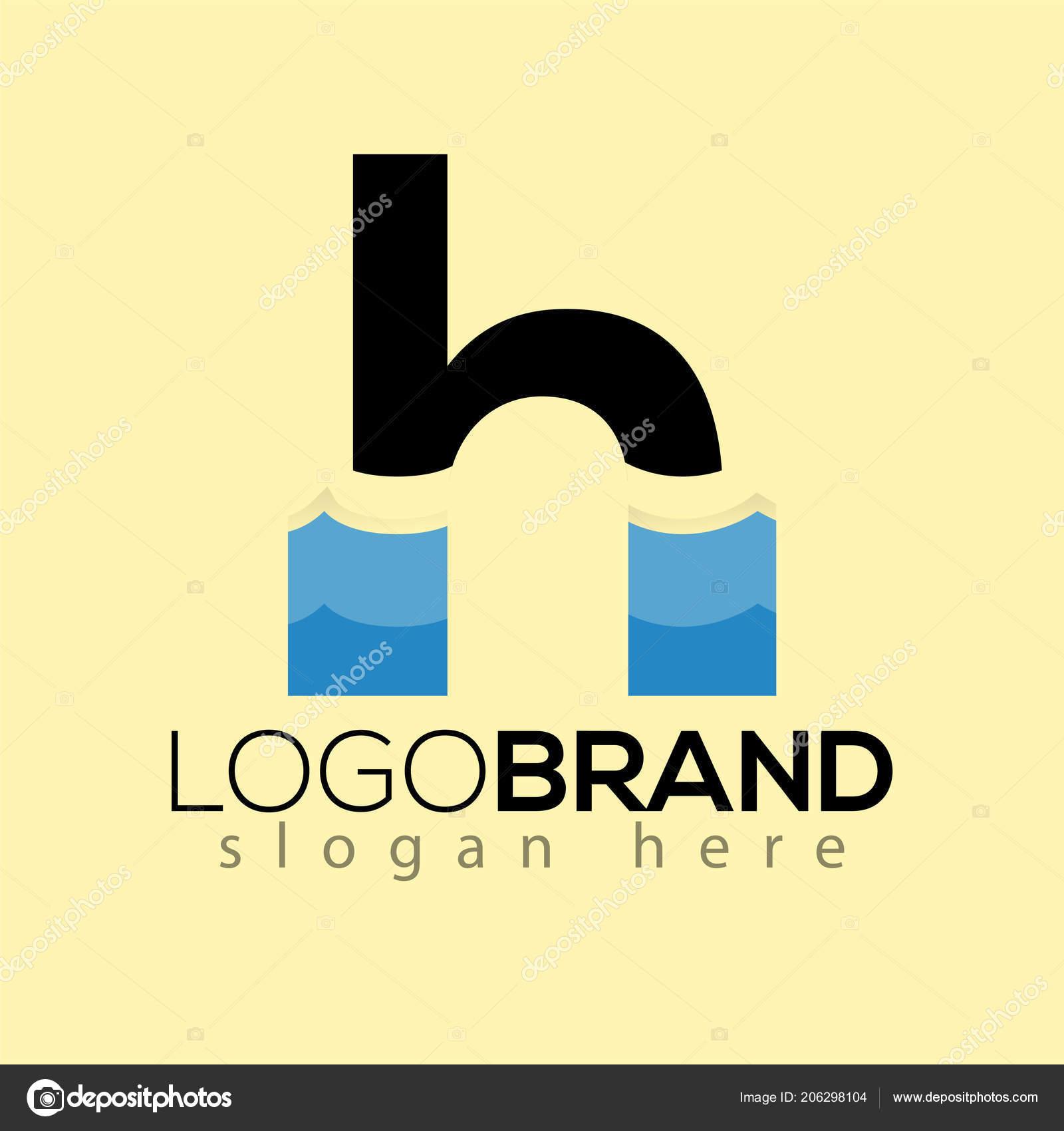 letter creative wave logo vector template vetor de stock desbayy