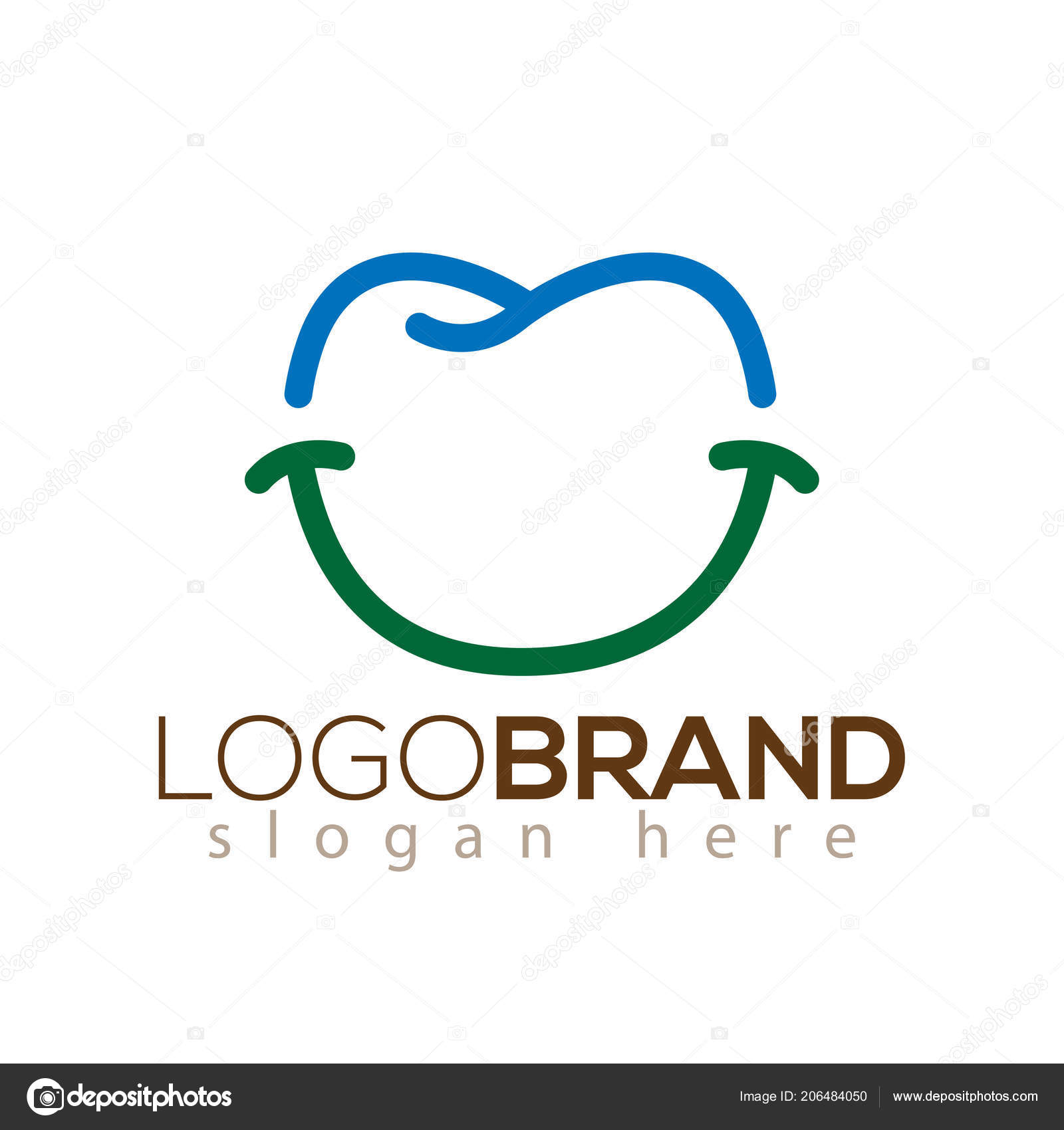 smile tooth dental logo vector icon template vetores de stock