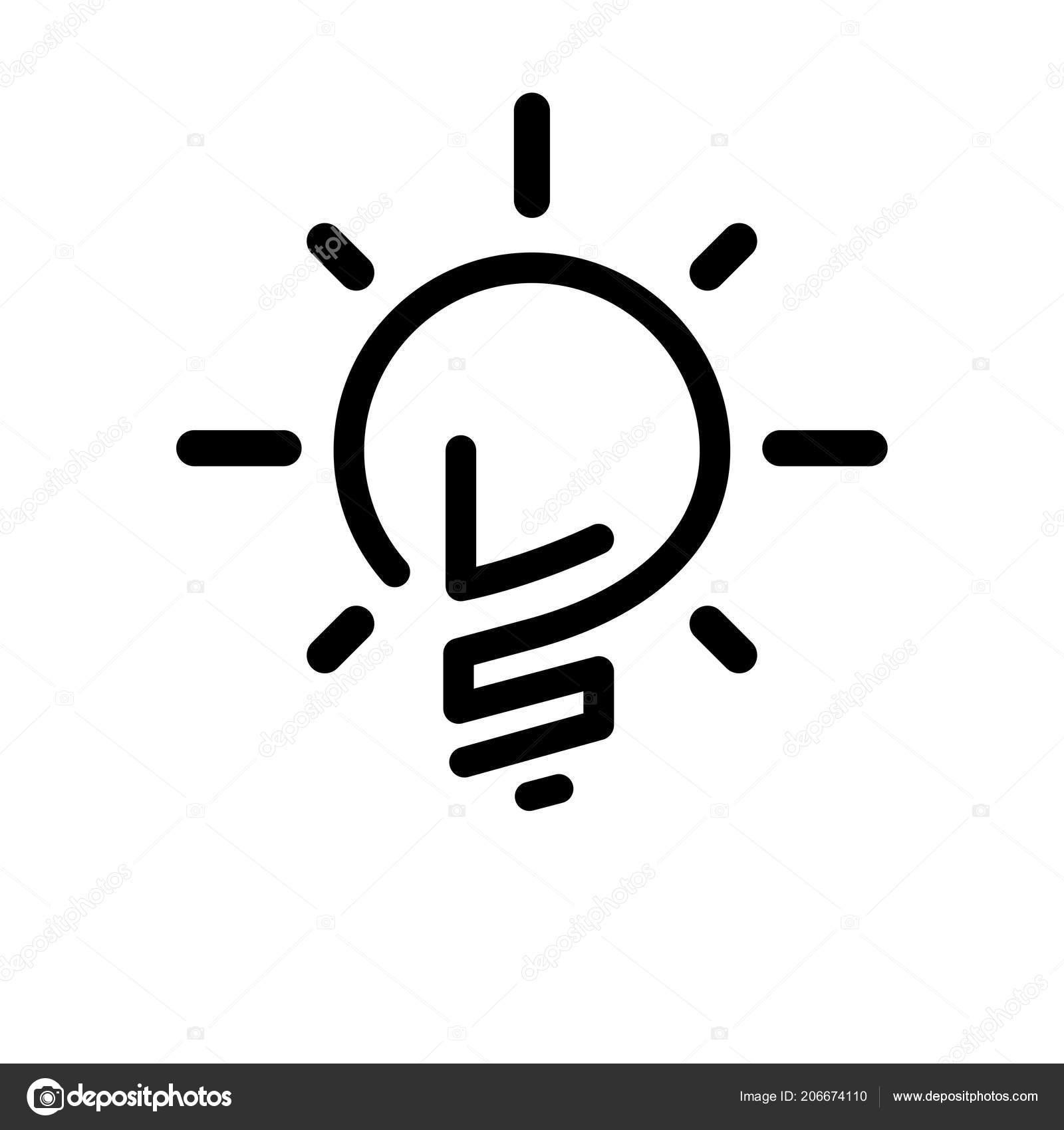 initial letter creative bulb logo vector element initial letter bulb