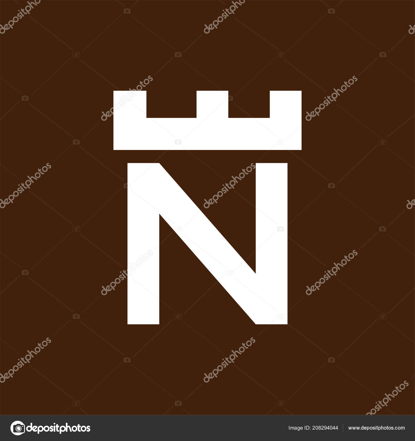 fortress castle initial logo template vector ストックベクター