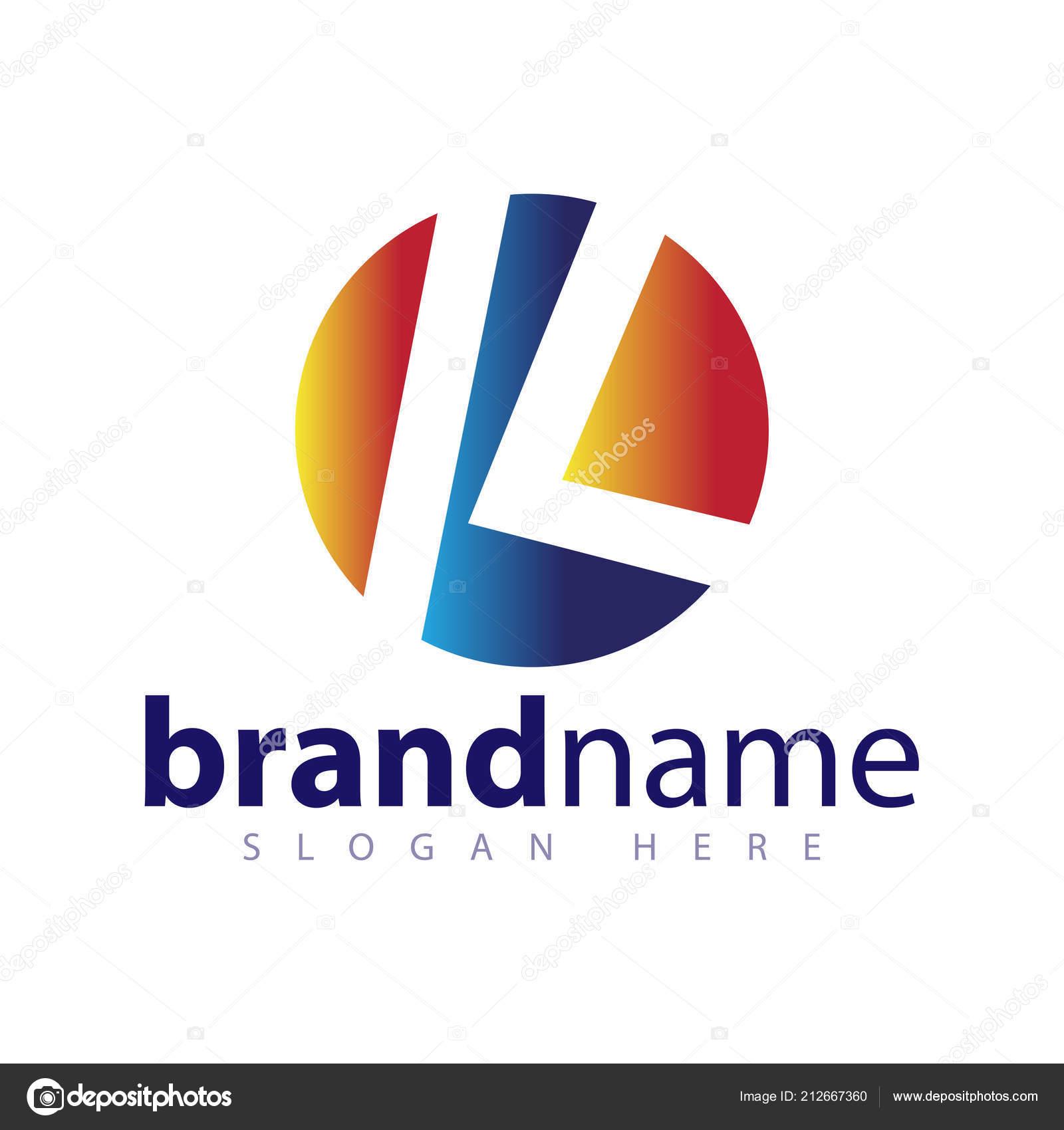 letter circle logo icon vector template ストックベクター desbayy