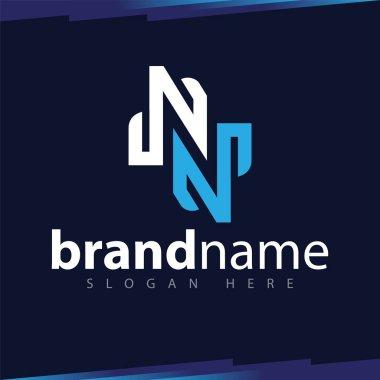 N Letter Line Art Logo template