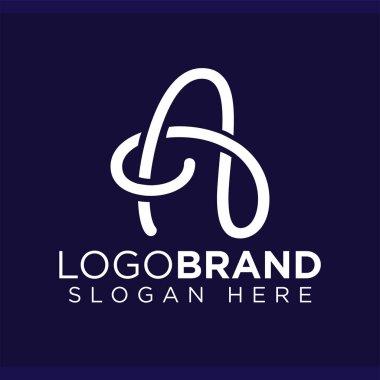 A Letter Line Logo Vector template