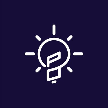 PO Initial Letter with creative bulb Logo vector