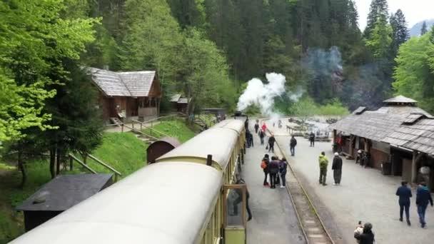 Transylvania, Romania - CCA. 1940: A narrow gauge railway train in Romania.