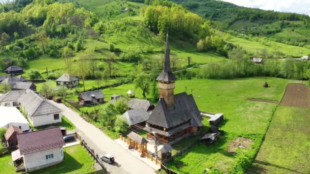 Wooden Vodita monastery located in western Romania Mehedinti county 4K Old Vodita wooden monastery heritage of Romania