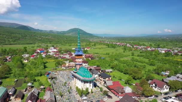 Maramures Romania Merry Cemetery. Shooting from the air