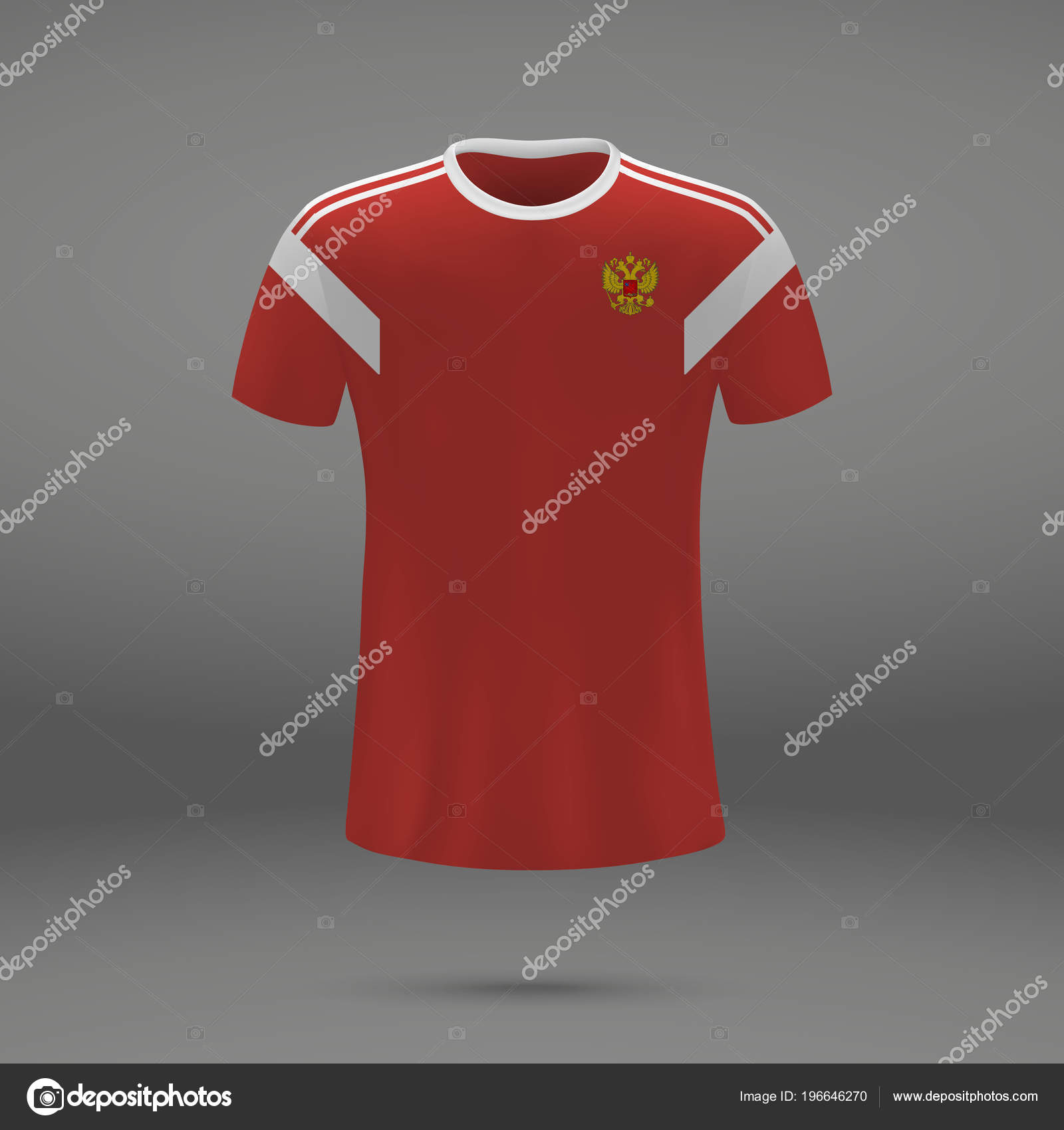 Football Kit Russia 2018 Shirt Template Soccer Jersey Vector Illustration —  Stock Vector 94be8d982