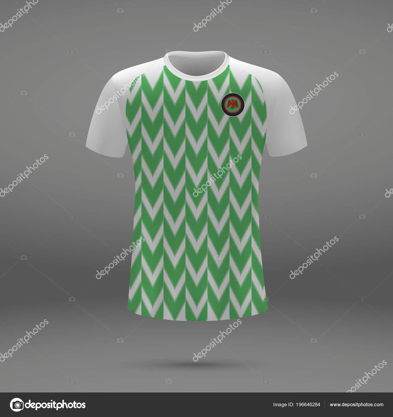 c03416c72 Football Kit Nigeria 2018 Shirt Template Soccer Jersey Vector ...