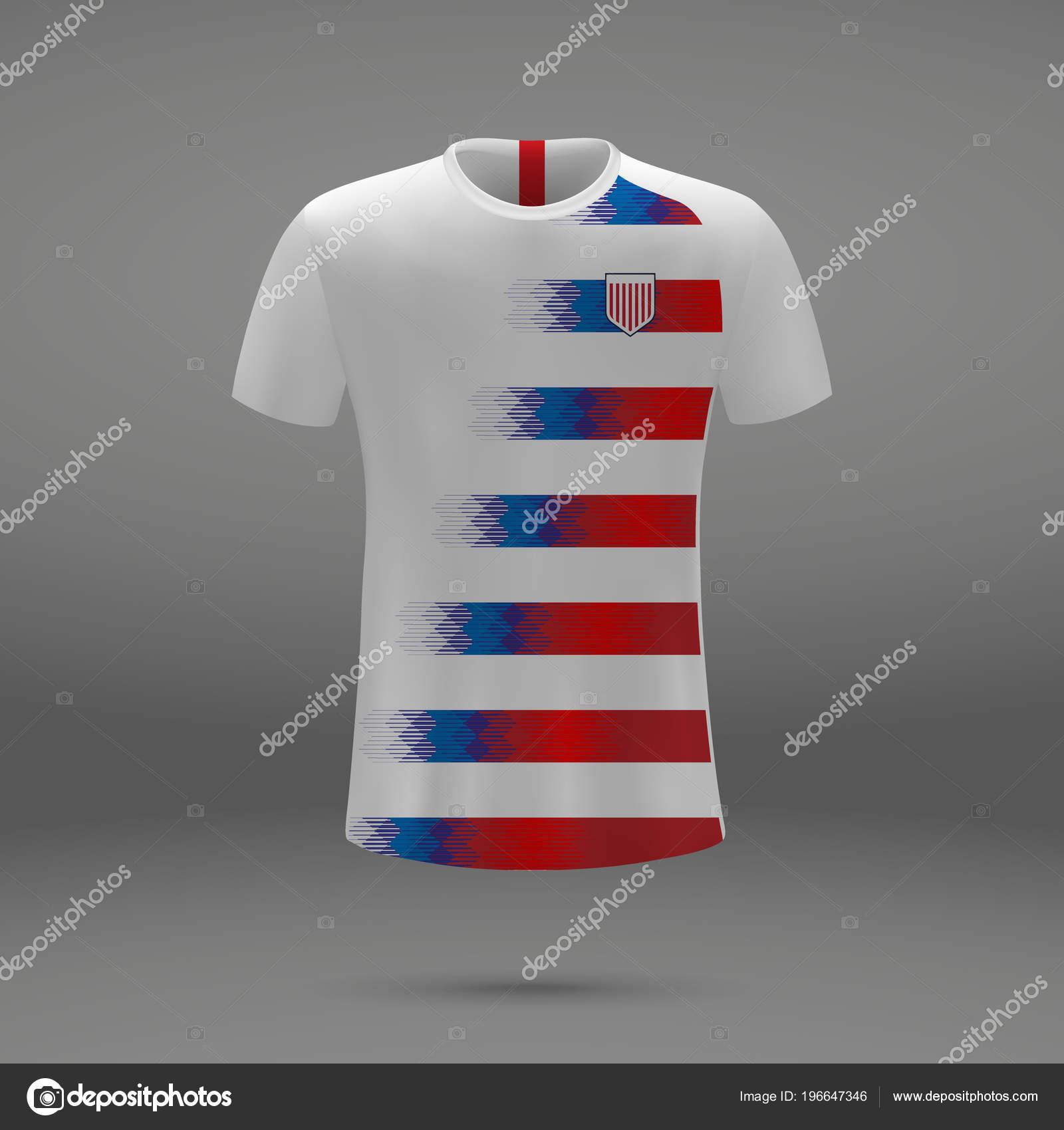 Kit Football Des Usa Modele Shirt Pour Maillot Football Illustration