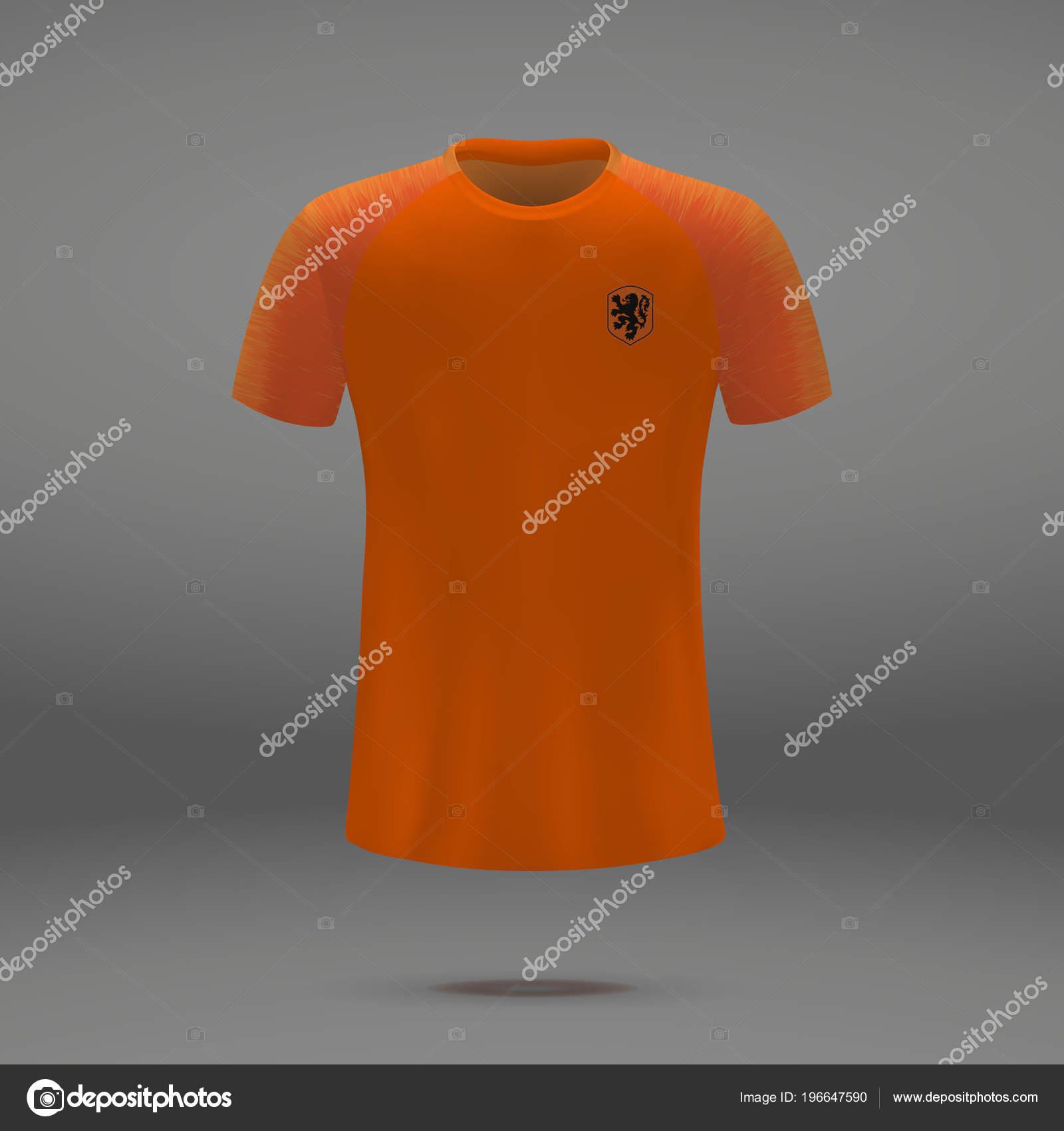 a5f1e069b Football Kit Netherlands Shirt Template Soccer Jersey Vector Illustration — Stock  Vector