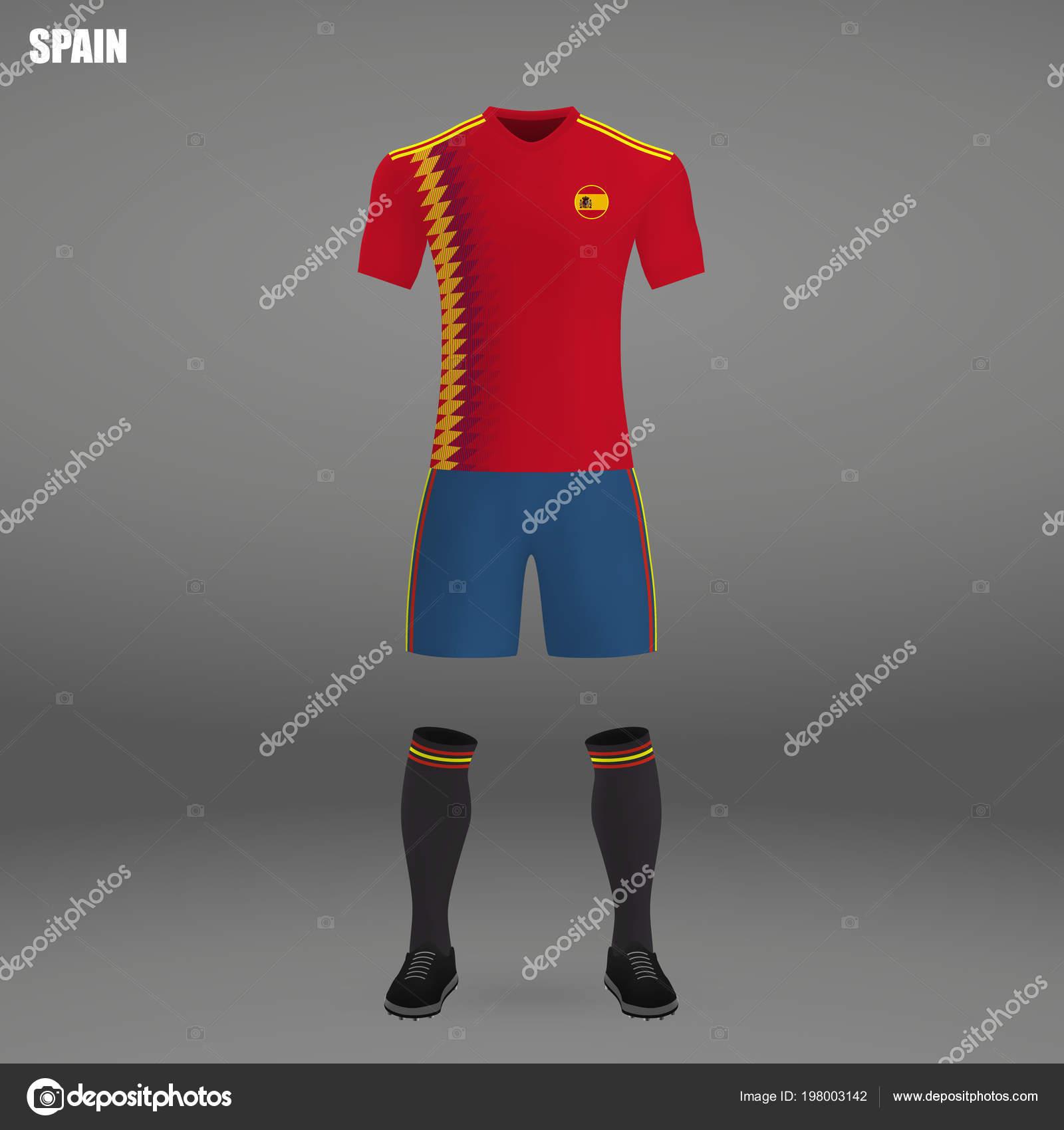 Футбольные майки испании сзади