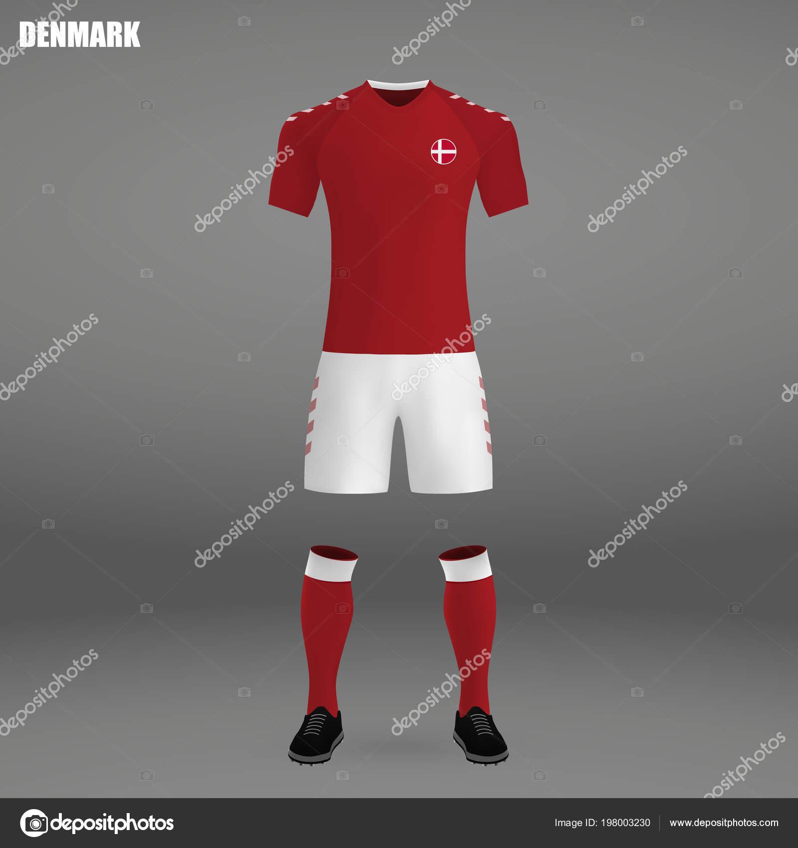 1ea311a07 Football Kit 2018 Shirt Template Soccer Jersey Vector Illustration — Stock  Vector
