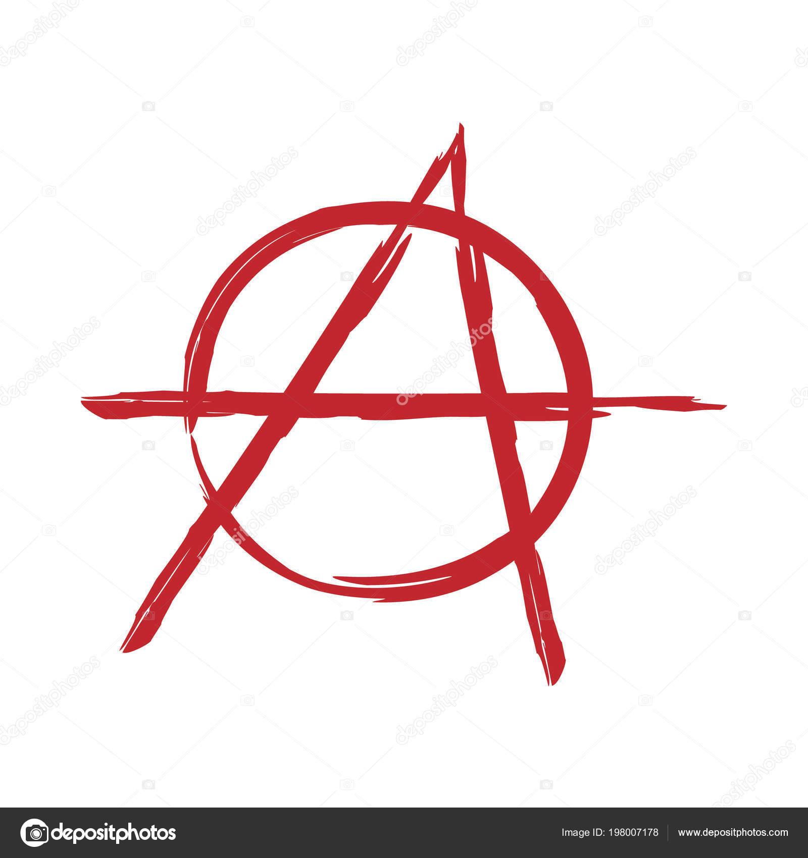 Anarchy Symbol Vector Sign Stock Vector Grebeshkovmaximgmail