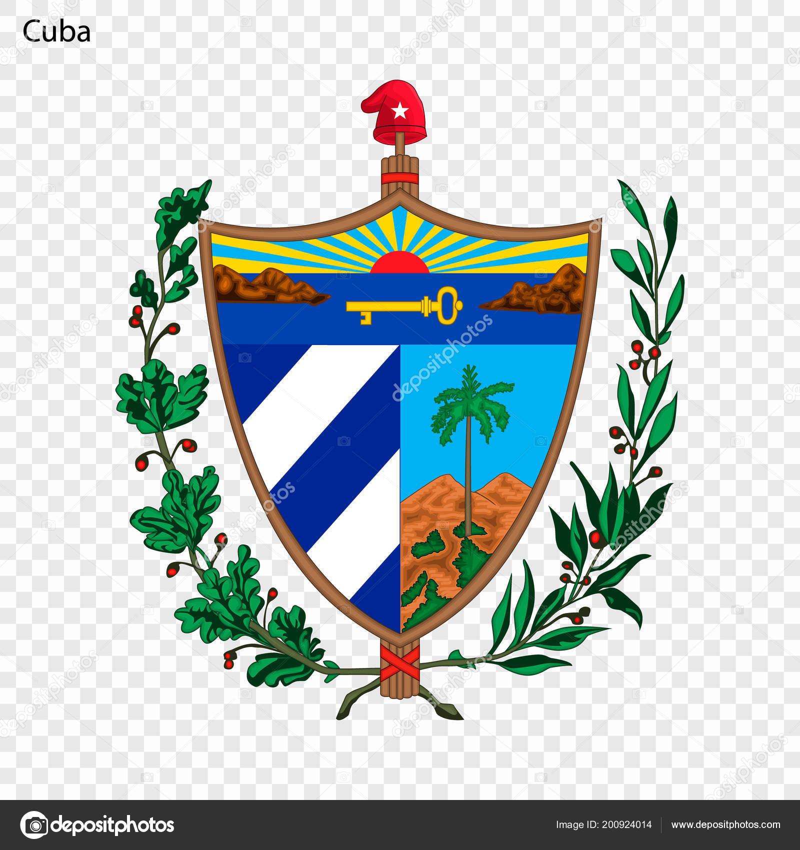 Symbol Cuba National Emblem — Stock Vector © grebeshkovmaxim@gmail