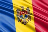 Fotografia beautiful colorful waving flag of Moldova