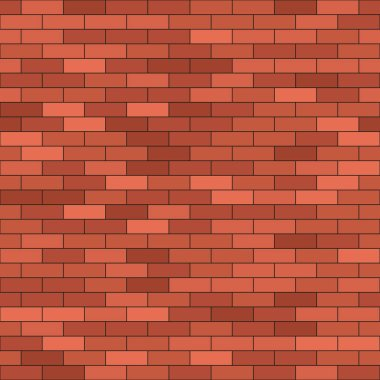 brick wall background vector illustration