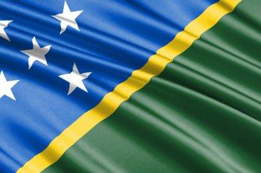 beautiful colorful waving flag of Solomon Islands