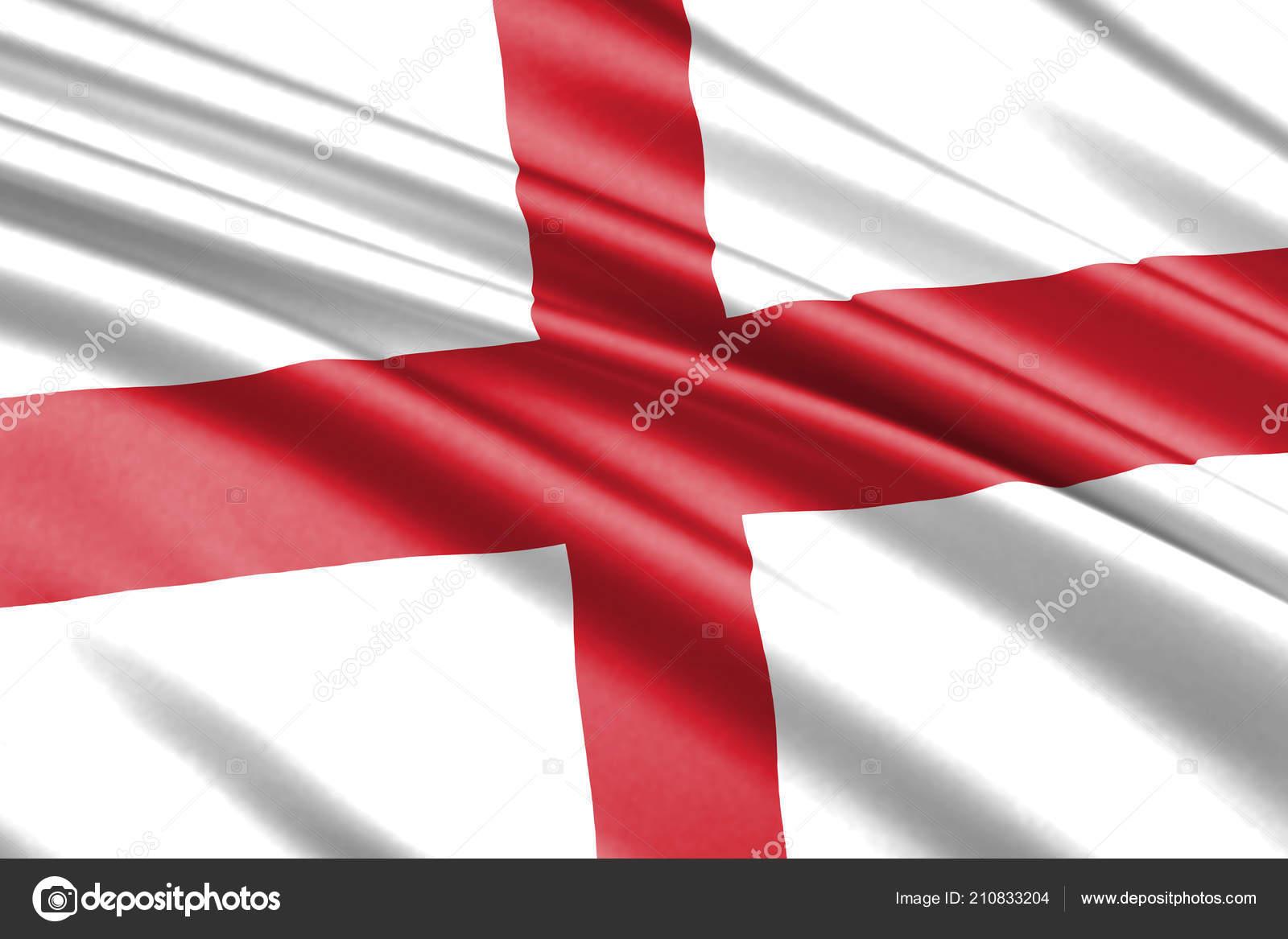 Beautiful Colorful Waving Flag England Stockfoto Grebeshkovmaxim