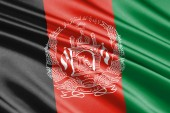 beautiful colorful waving flag of Afghanistan