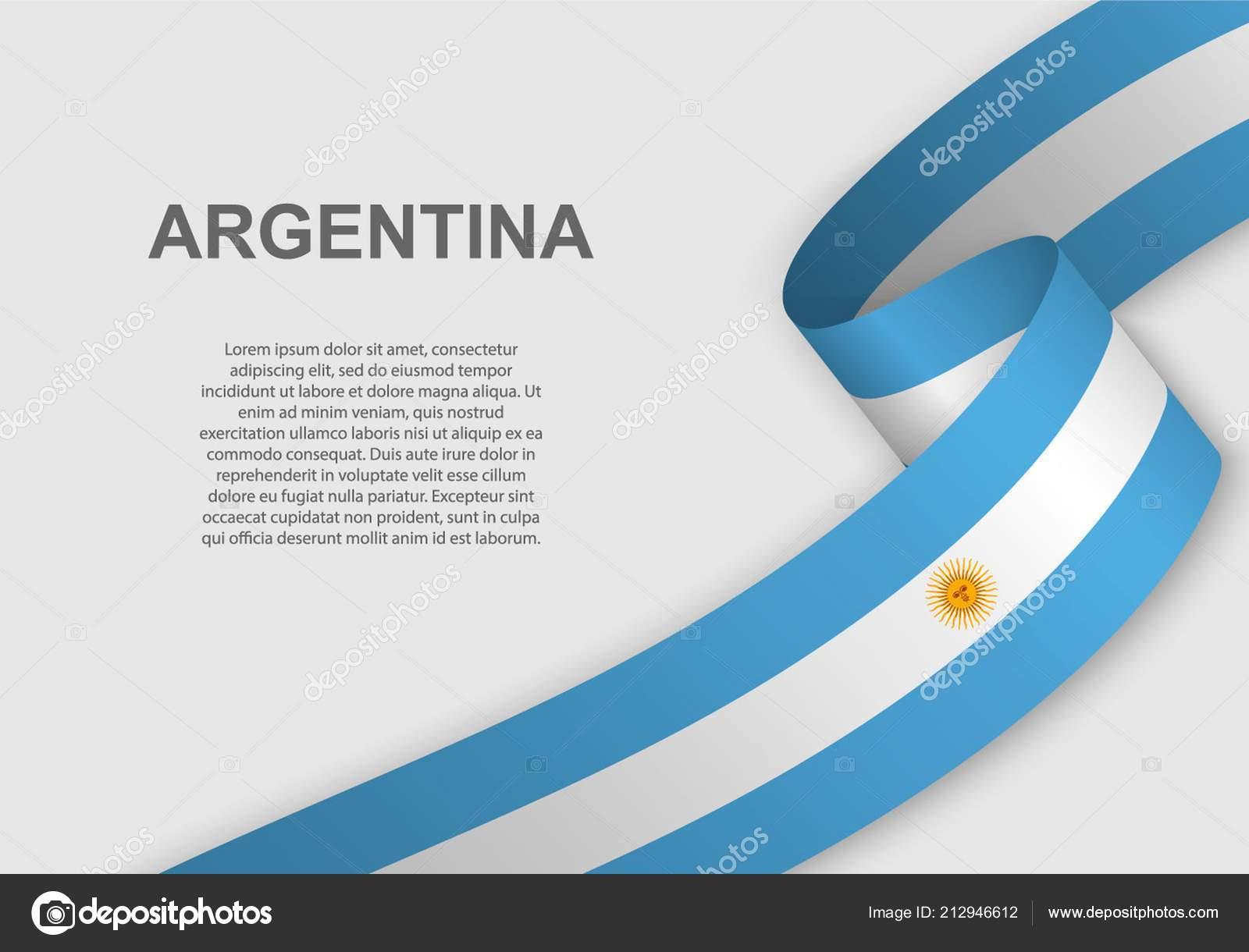 Agitando Bandeira Argentina Modelo Para Dia Independência
