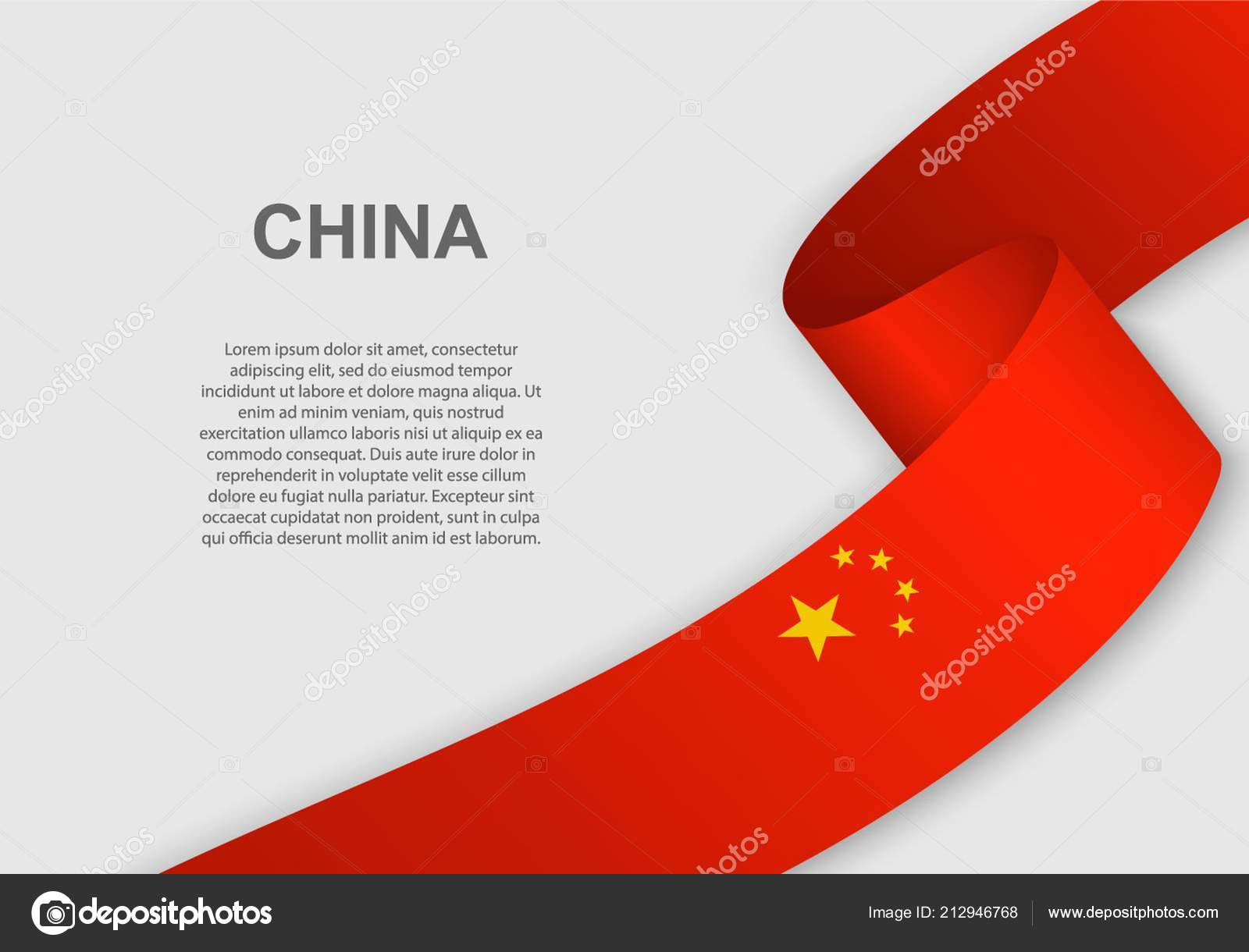 Waving Flag China Template Independence Day Vector