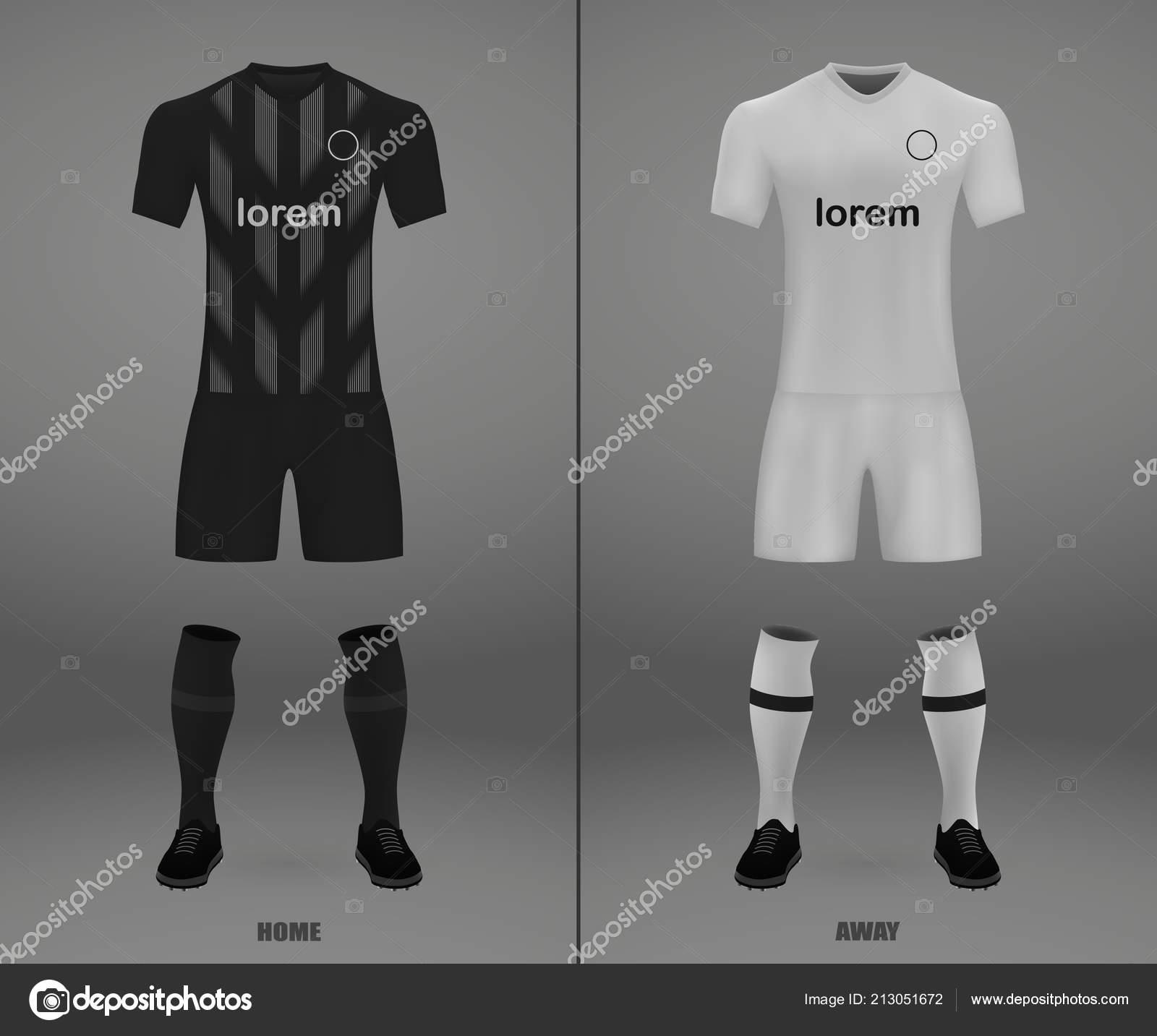 1fdabb75b3 Kit Futebol Eintracht Frankfurt 2018 Modelo Camisa Para Futebol Jersey —  Vetores de Stock