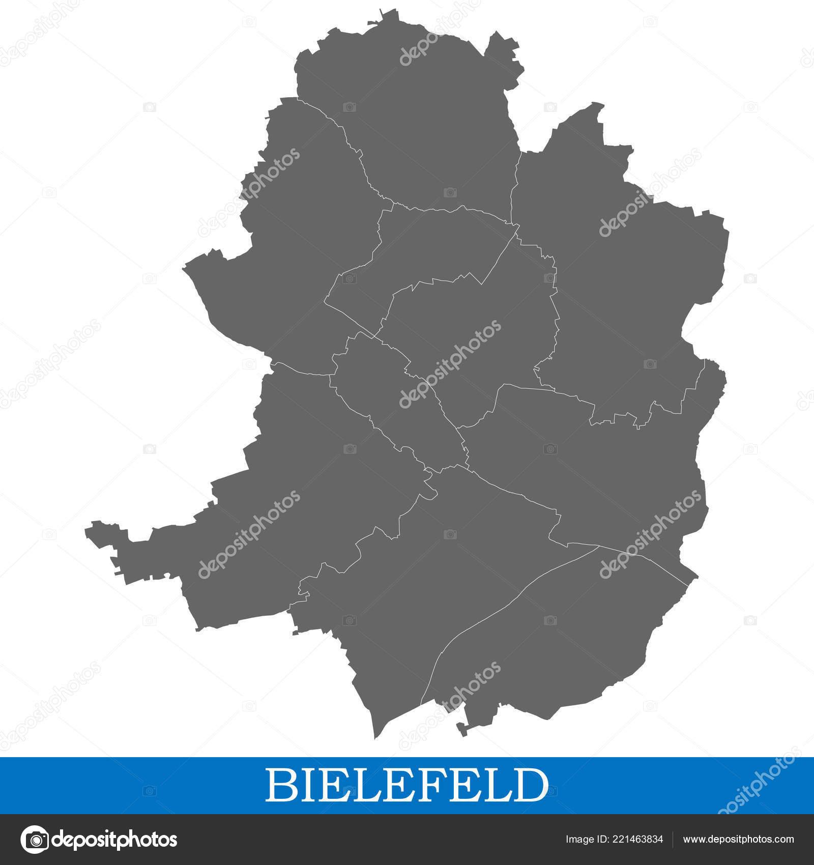 Carte Allemagne Bielefeld.Haute Qualite Carte Bielefeld Est Une Ville Allemagne Avec
