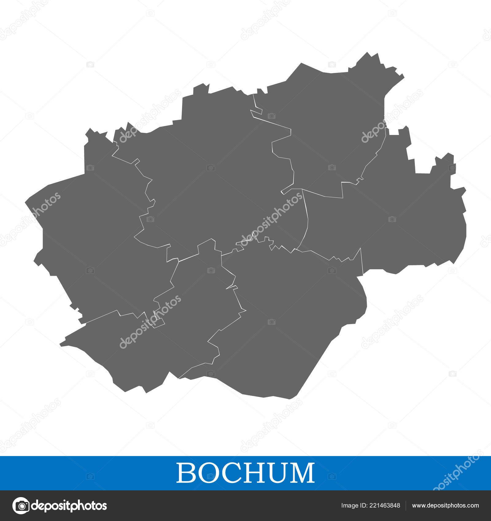 Bochum Karte.Hohe Qualität Karte Von Bochum Ist Eine Stadt Deutschlands Mit