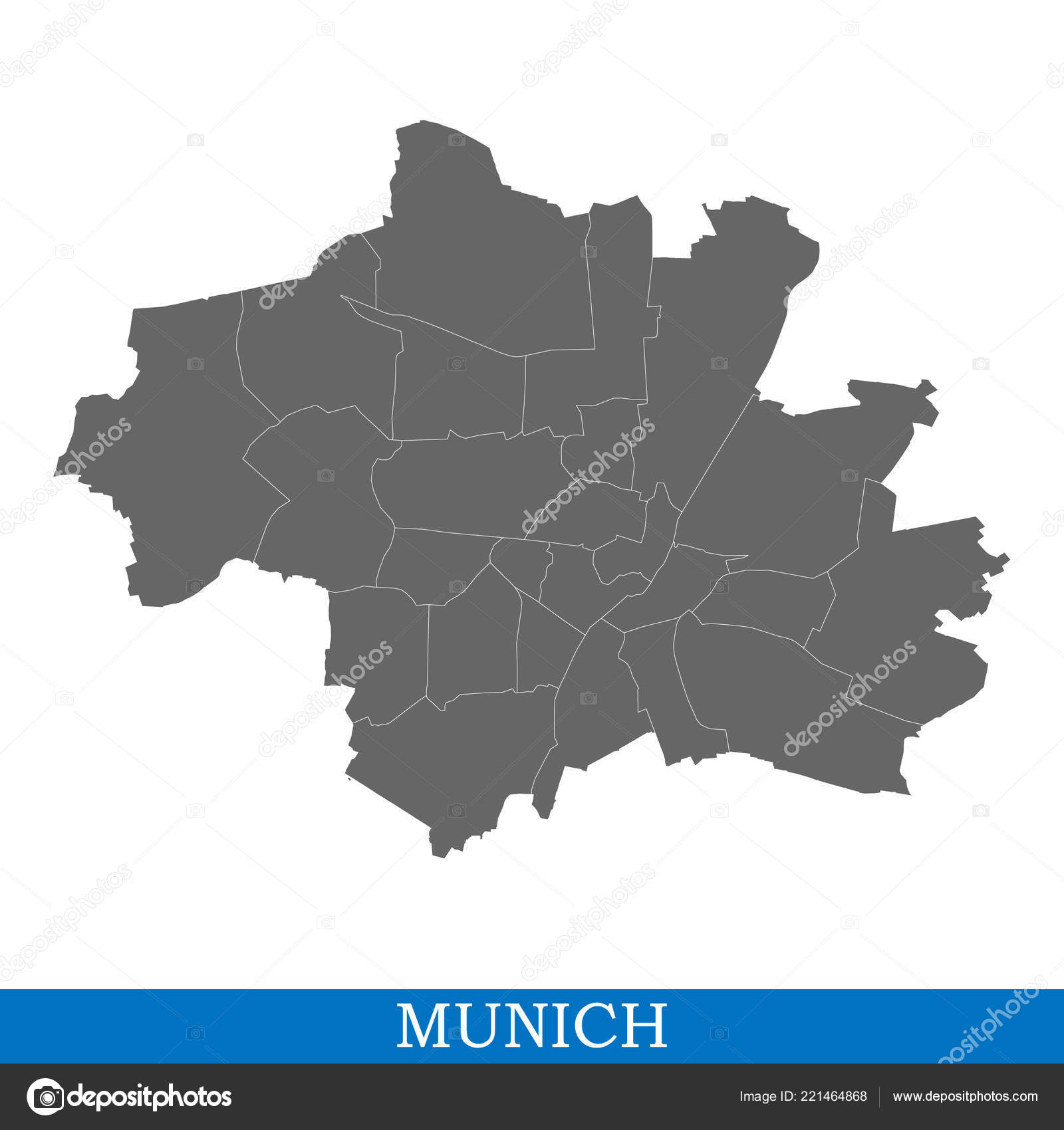 München Karte Deutschland.Hohe Qualität Karte Von München Ist Eine Stadt Deutschlands Mit