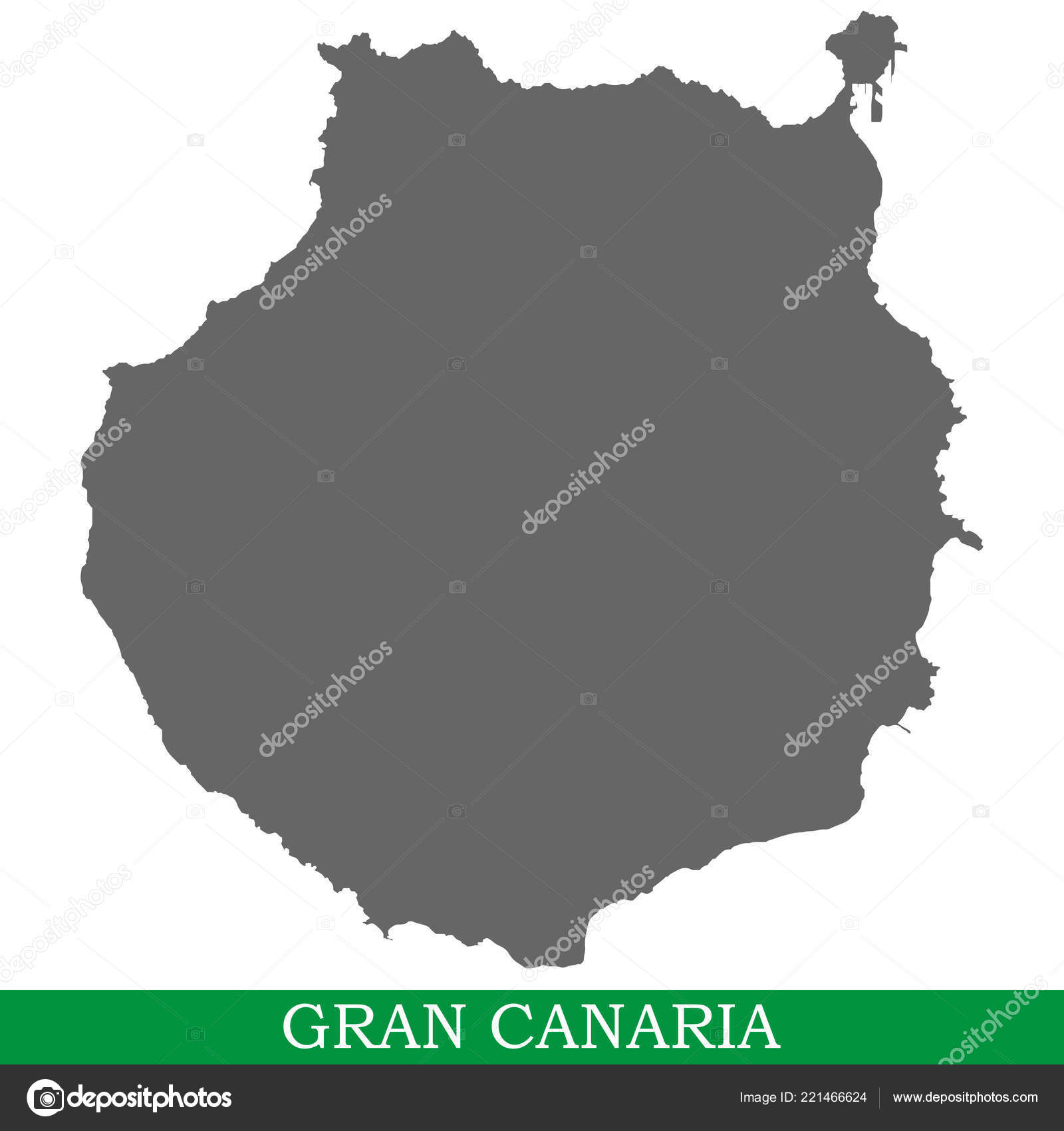 Map Of Spain Gran Canaria.High Quality Map Gran Canaria Island Spain Canary Islands Stock
