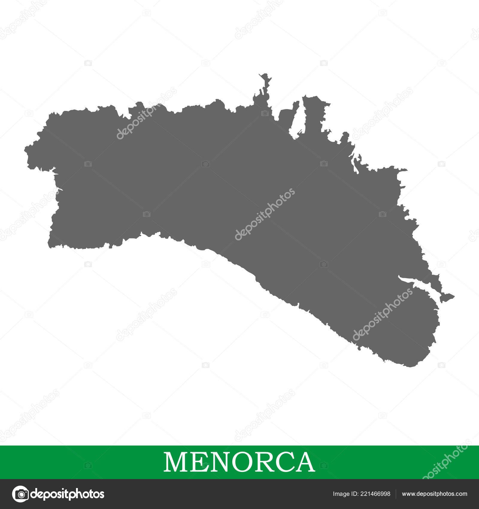 Insel Menorca Karte.Hochwertige Karte Von Menorca Ist Die Insel Von Spanien