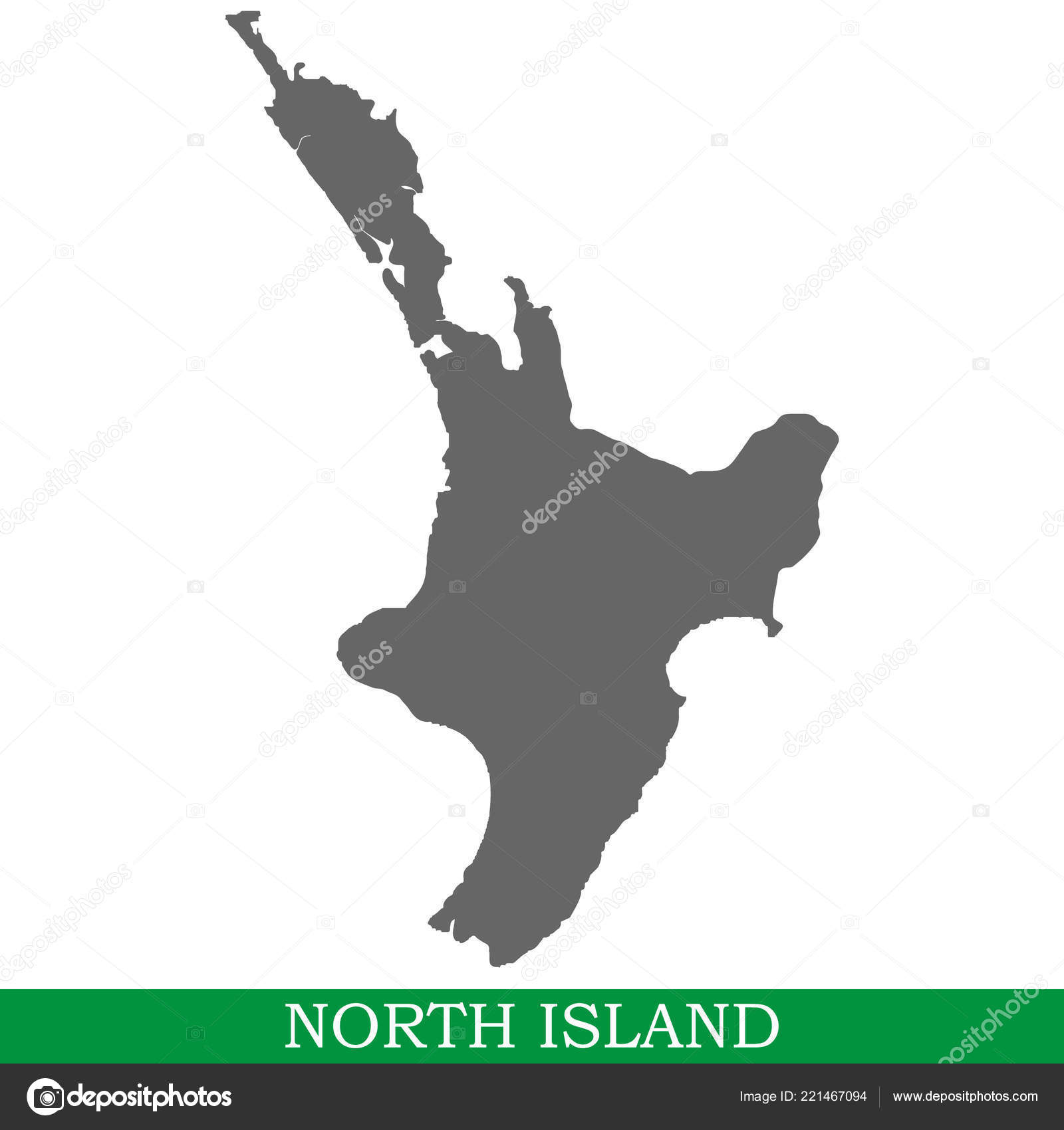 Neuseeland Nordinsel Karte.Hochwertige Karte Der Nordinsel Ist Die Nordinsel Von Neuseeland