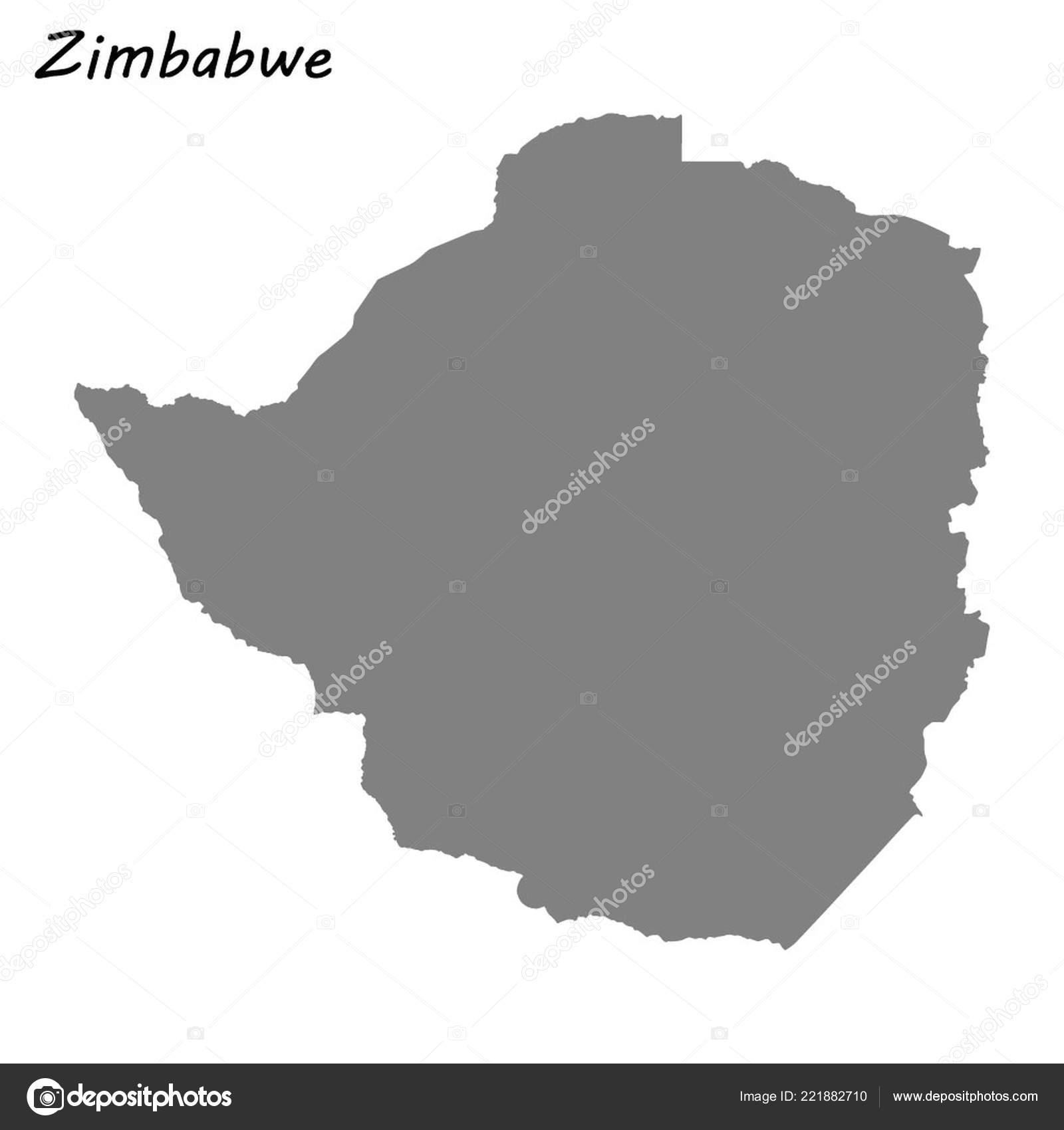 High Quality Map Zimbabwe Vector Illustration — Stock Vector ...