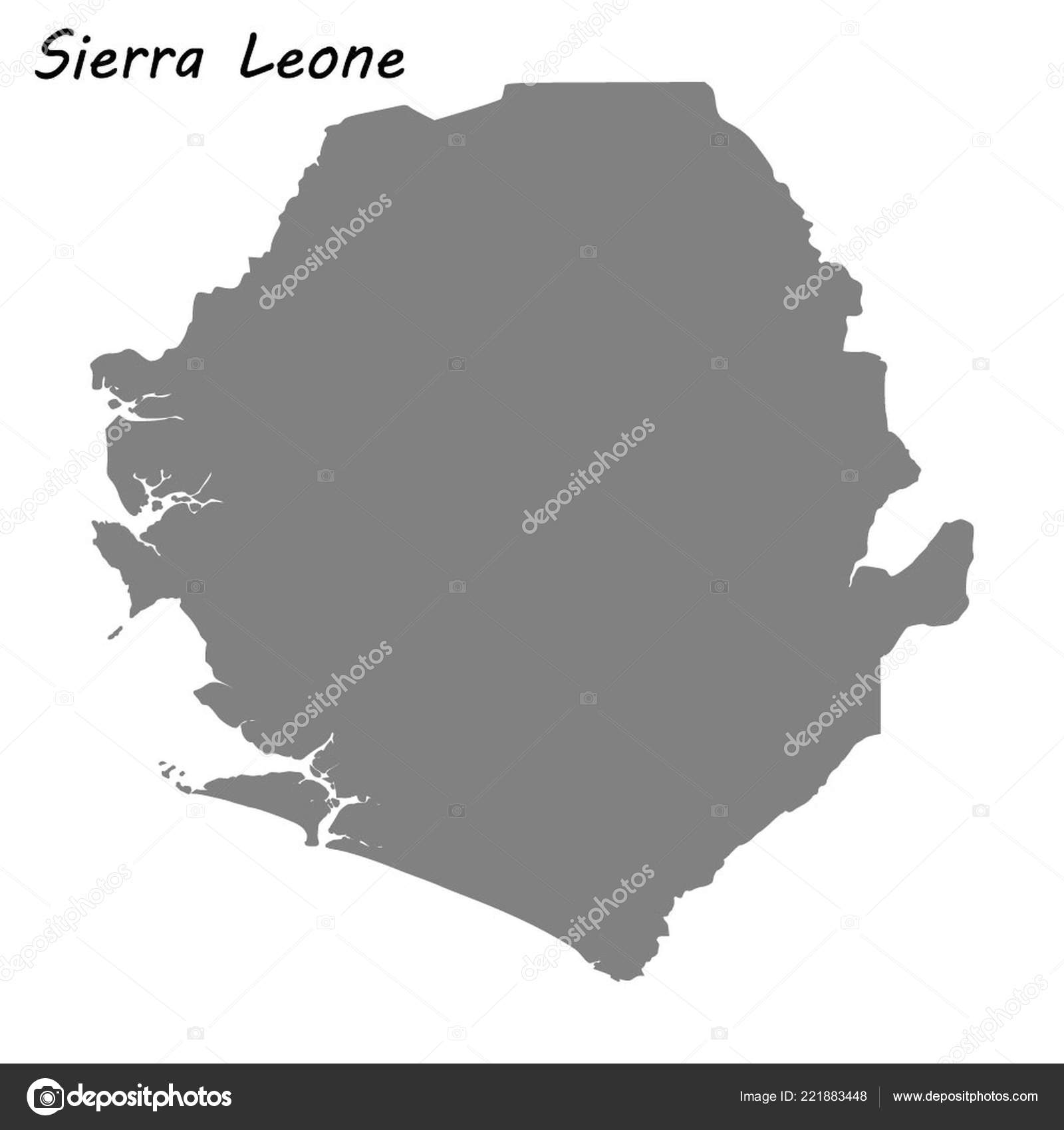 High Quality Map Sierra Leone Vector Illustration — Stock Vector ...