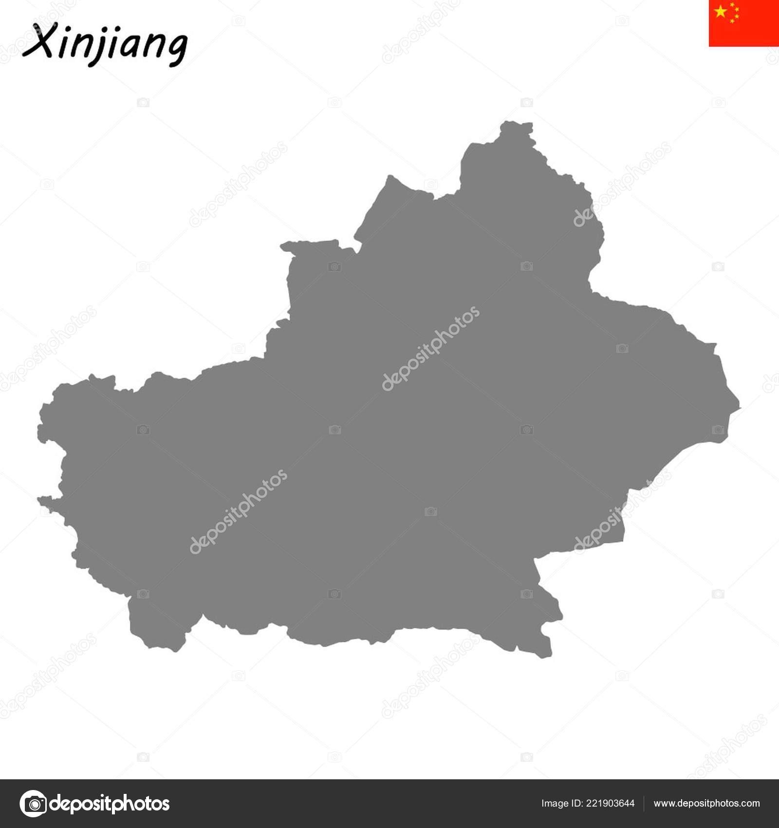 Map Xinjiang.High Quality Map Xinjiang Province China Stock Vector