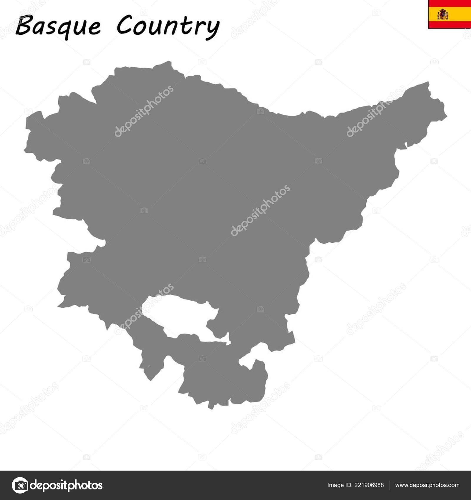 Map Of Spain Basque Region.High Quality Map Autonomous Community Spain Basque Country Stock