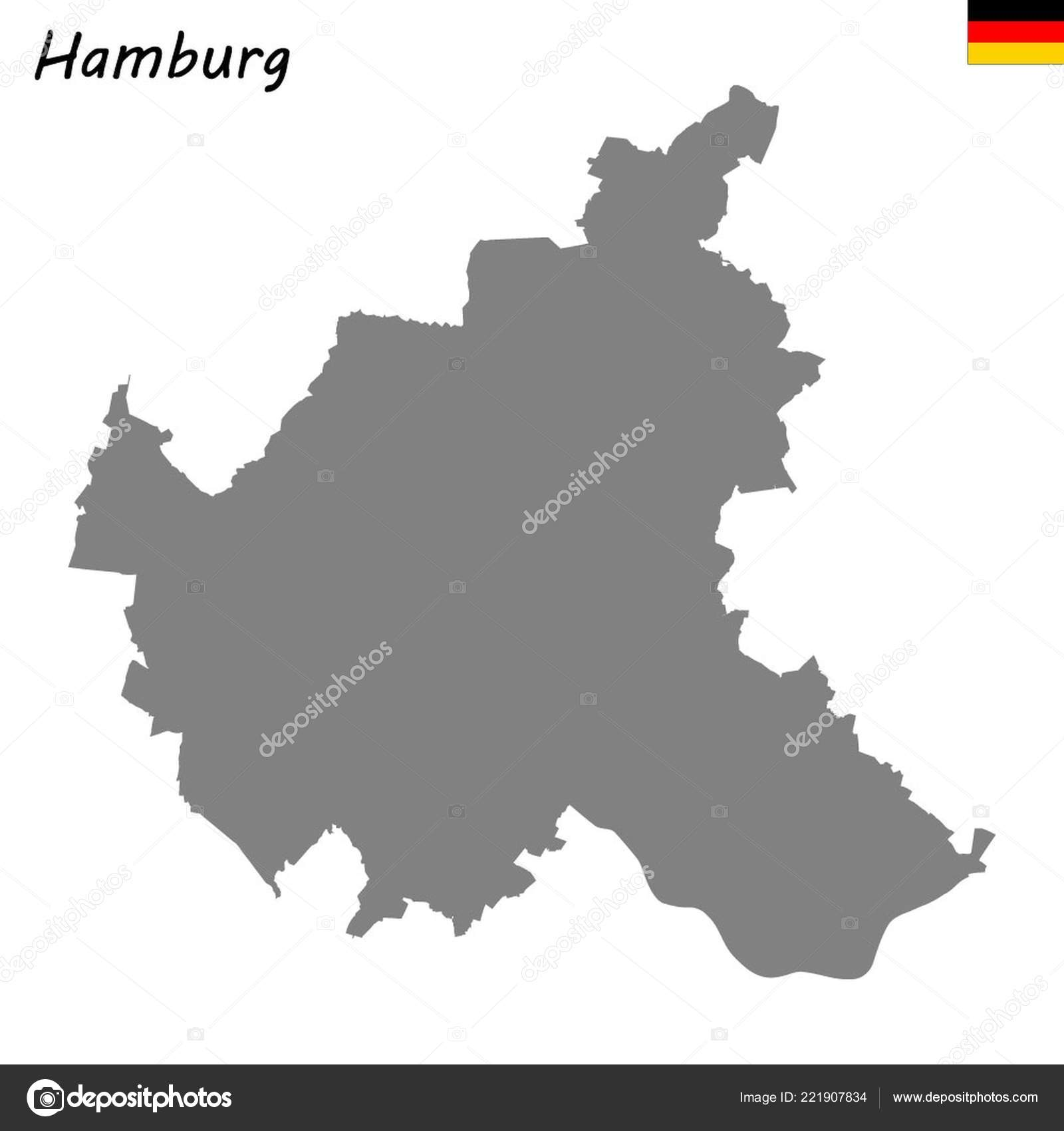 Map Of Germany Hamburg.High Quality Map State Germany Hamburg Stock Vector
