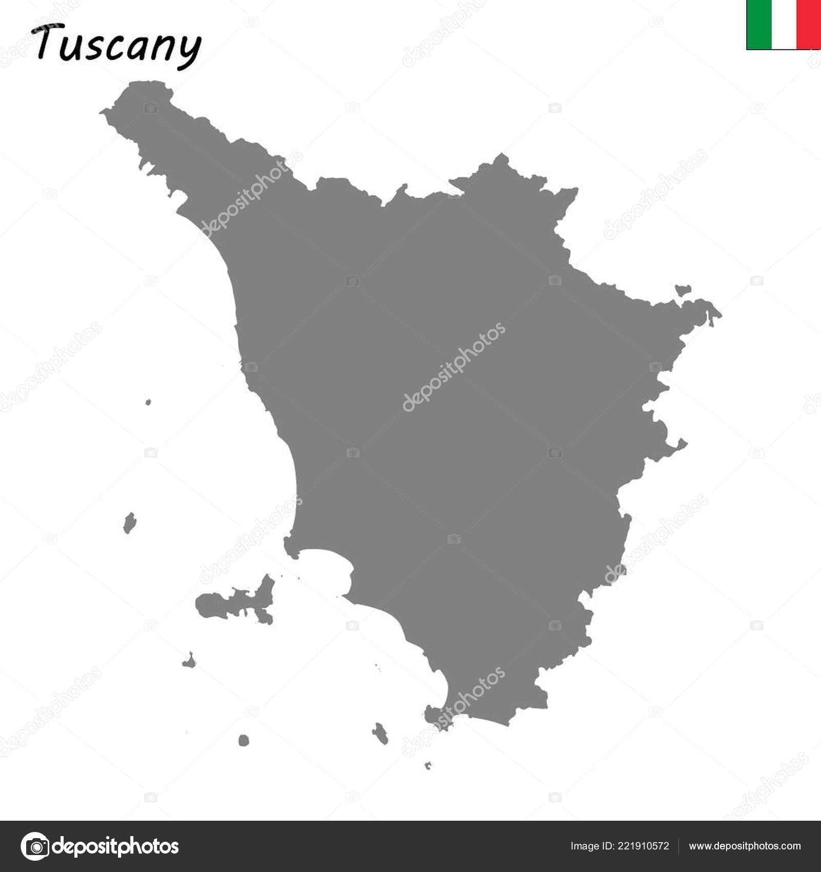 Map Of Italy Tuscany Region.High Quality Map Tuscany Region Italy Stock Vector