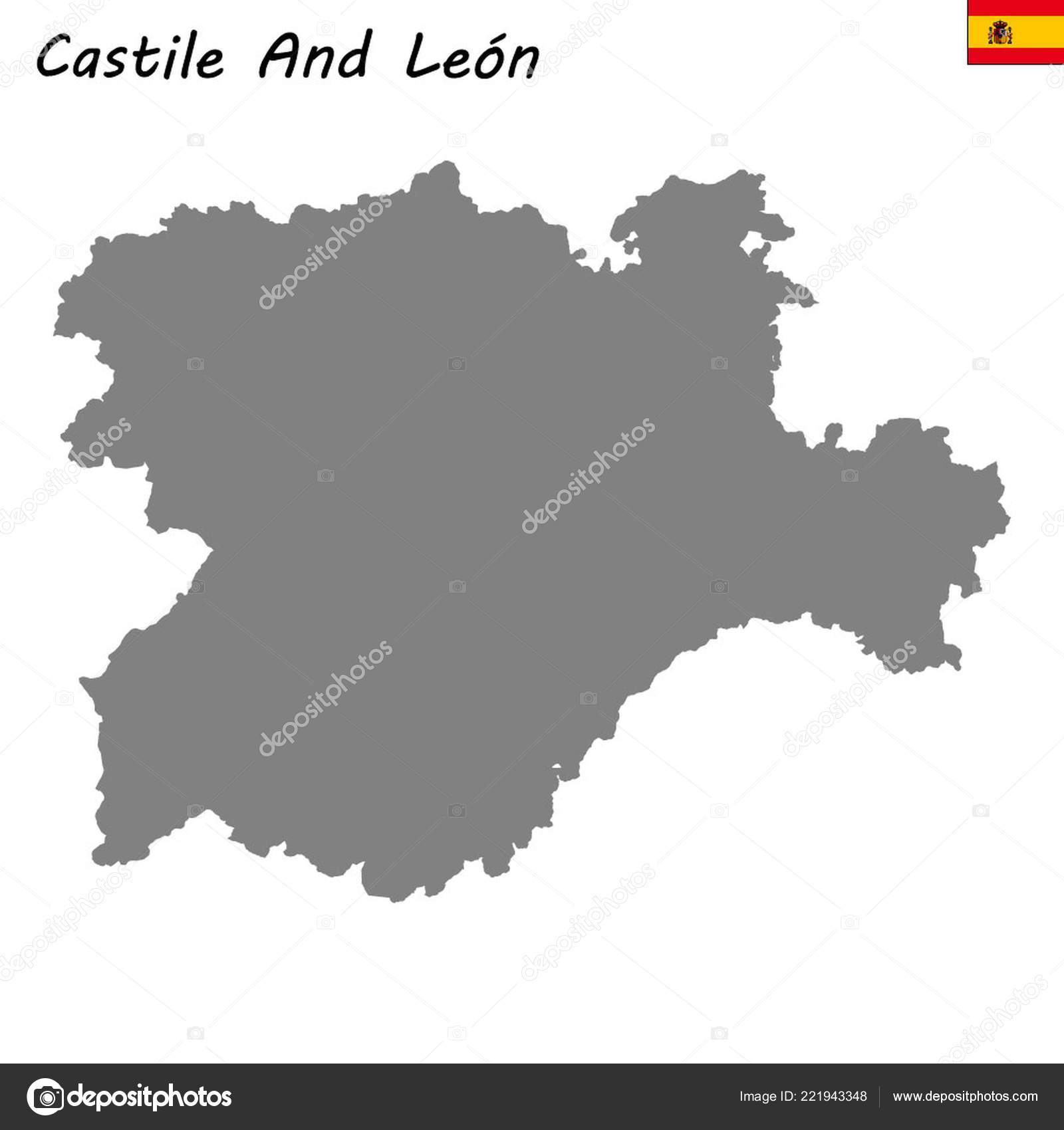 High Quality Map Autonomous Community Spain Castile Leon — Stock on bay of biscay map, viceroyalty of peru map, duchy of burgundy map, castile europe map, republic of florence map, united kingdom on world map, republic of venice map, duchy of brittany map, kingdom of castile in spain, republic of genoa map, kingdom of denmark map, kingdom of burgundy map,