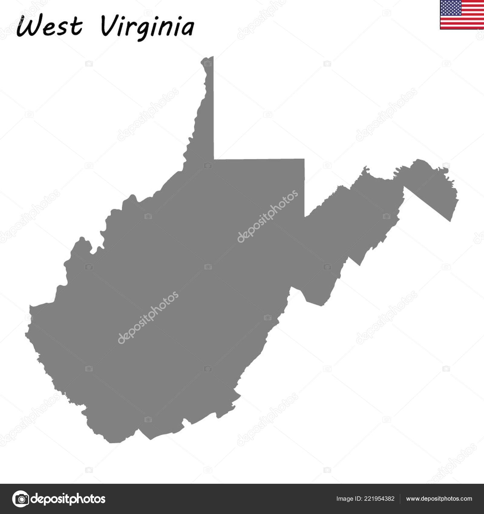 High Quality Map State United States West Virginia — Stock Vector ...