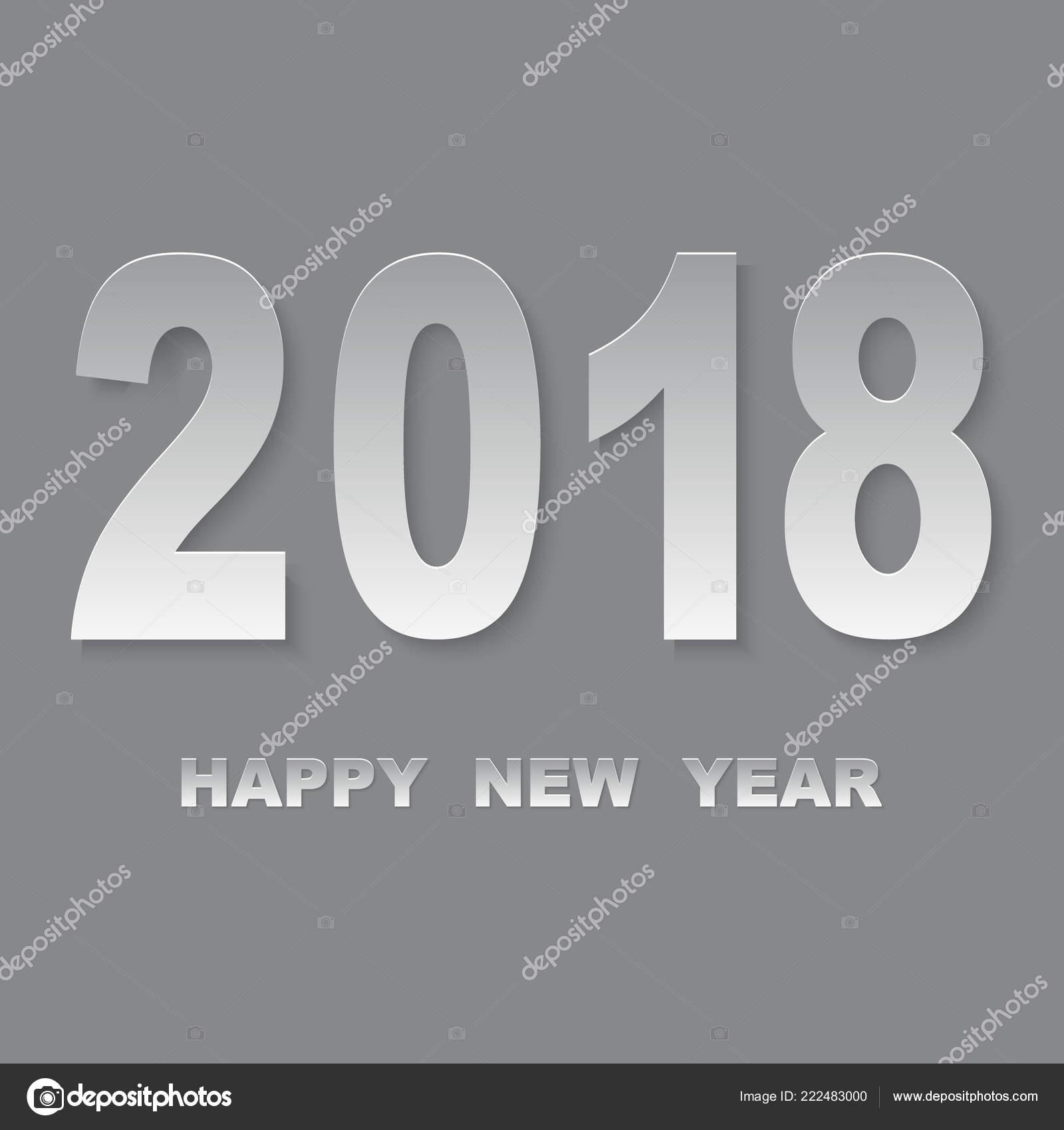 happy new year 2018 vector background vector brochure design template stock vector