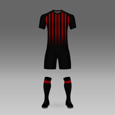 football kit Atletico Paranaense, shirt template for soccer jersey. Vector illustration