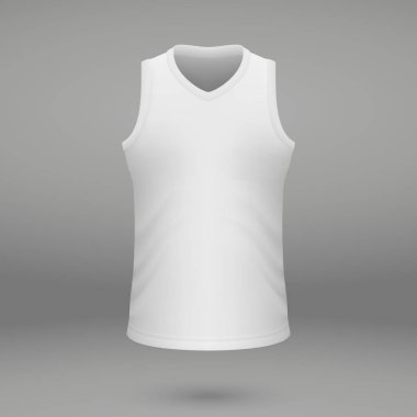 shirt template for basketball jersey. Vector illustration