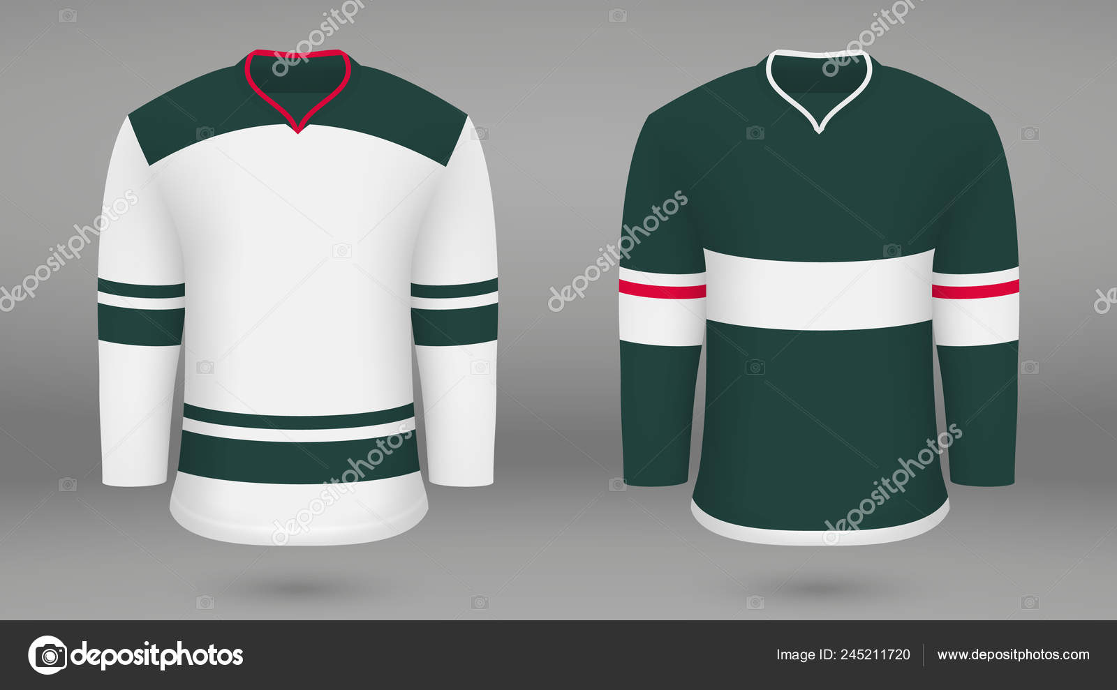reputable site a483e c28f2 Pictures: minnesota wild hockey | Realistic Hockey Kit Shirt ...