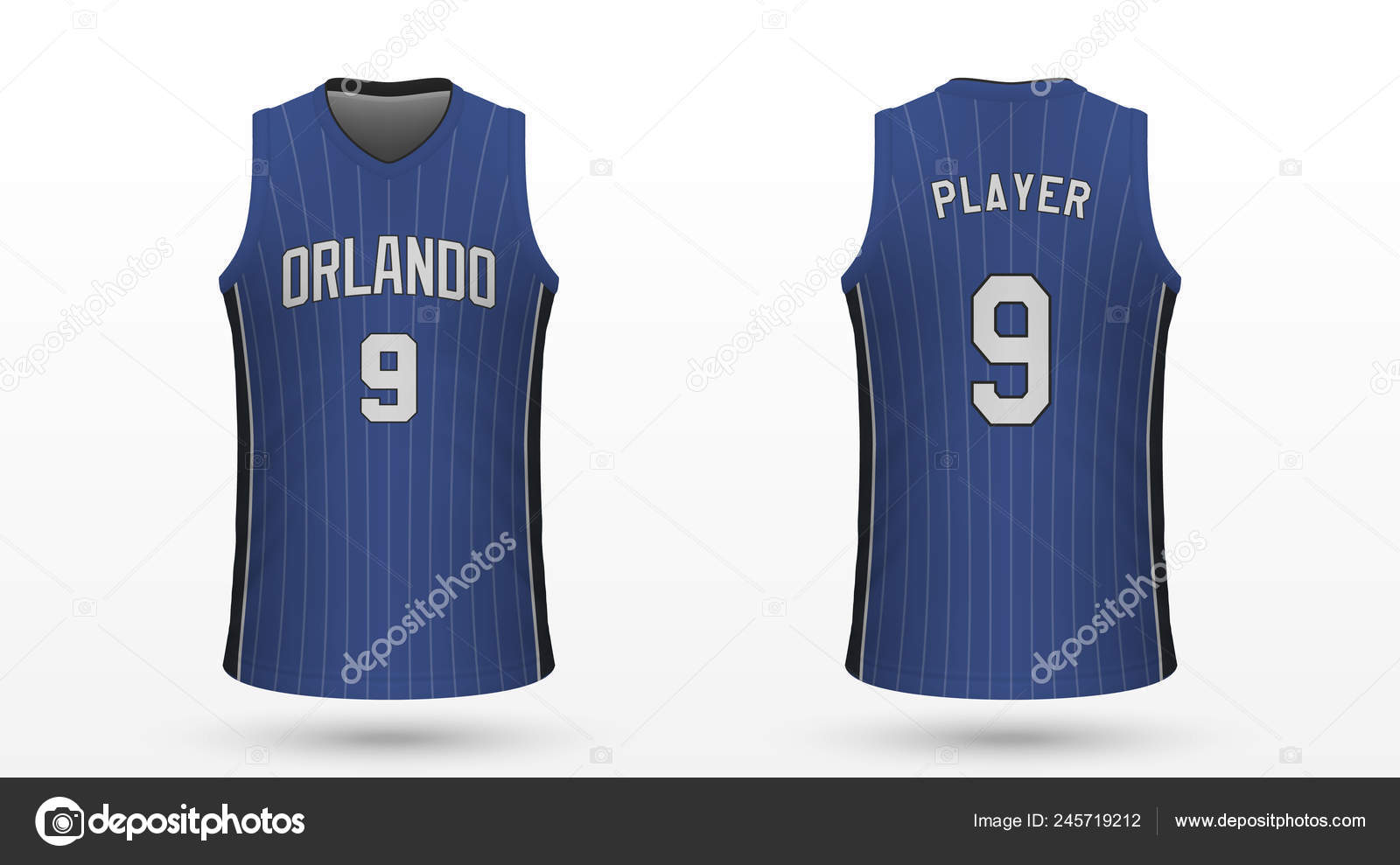 outlet store 4b2ed 79d59 Realistic Sport Shirt Orlando Magic Jersey Template ...